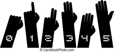 counting hands illustration - Creative design of counting...