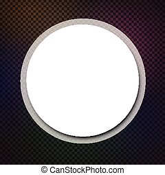 Abstract round background Vector paper illustration