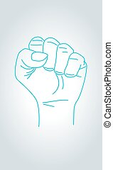 Claw sign hand gesture