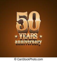 50 years anniversary vector logo