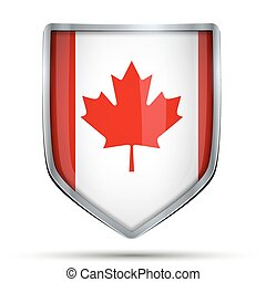 Shield with flag Canada