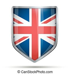 Shield with flag Great Britain