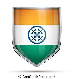 Shield with flag India