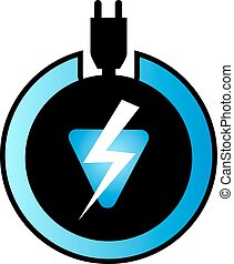 electric energy icon - Creative design of electric energy...