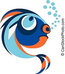 fish from coral reefs - Funny bright brooding fish. Objects...