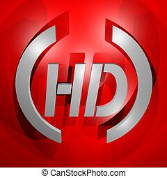 HD symbol - Creative design of HD symbol