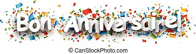 Happy birthday paper banner. - Happy birthday paper banner...