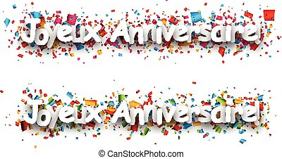 Happy birthday paper banners. - Happy birthday paper banners...