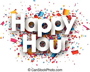 Happy hour paper background - Happy hour paper background...