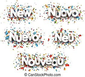New paper banners. - New paper banners, Italian, Spanish,...
