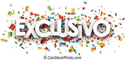 Exclusive paper banner. - Exclusive paper banner with color...