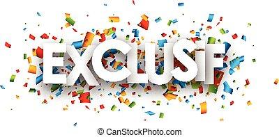 Exclusive paper banner - Exclusive paper banner with color...