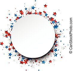Round background with stars. - Round background with red,...