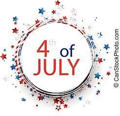 Independence Day round background - 4th of July Independence...