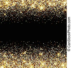 Abstract background. - Black abstract background with golden...