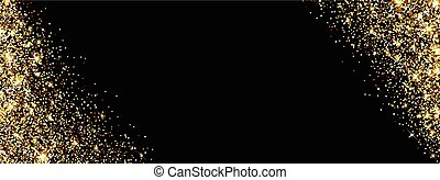Banner with sand. - Black banner with sand. Vector...