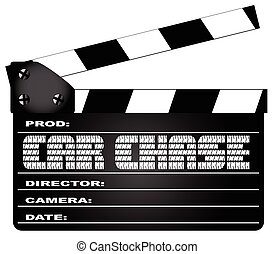 Car Chase Clapperboard - A typical movie clapperboard with...