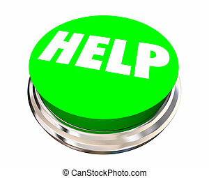 Help Button Get Assistance Support Service Word 3d Illustration