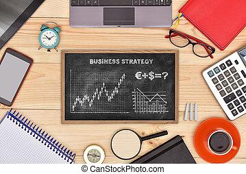 estrategia, para, éxito