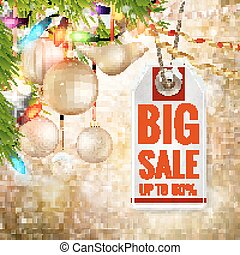 Christmas sale design template. EPS 10