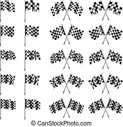 Checkered, Chequered Flags - 10 version of the Chekered Flag...