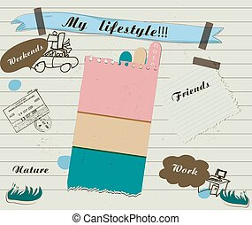 scrapbook details set vector illustration EPS 10