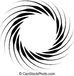 Spiral element Concentric swirling shape with lines rotating...