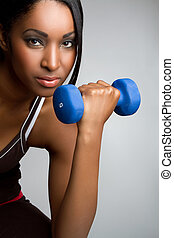 Fitness Woman - Beautiful african american fitness woman