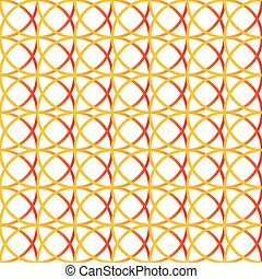 Colorful repeatable background with intersecting circles...