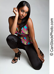 Black Fashion Model Woman - Beautiful black fashion model...