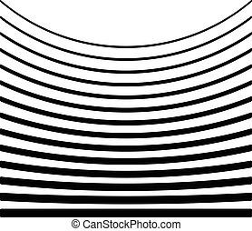 Set of lines with different level of deformation. Abstract...