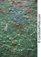 metal background green paint