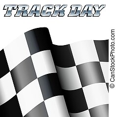 TRACK DAY Checkered, Chequered Flag