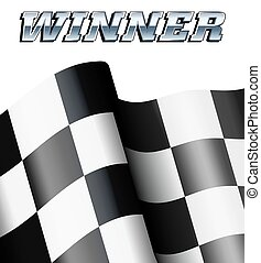 Winner Background Motor Racing - Background Checkered,...