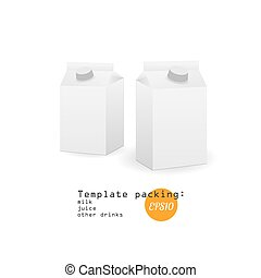 White vector paper template milk