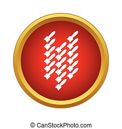Air bombs icon in simple style on a white background