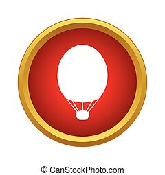 Air balloon icon in simple style on a white background