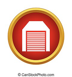Identification army badge icon, simple style -...