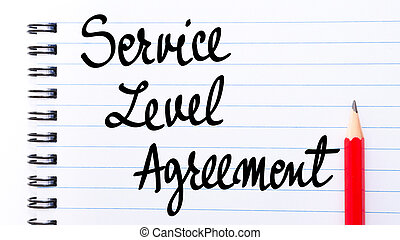 Service Level Agreement written on notebook page