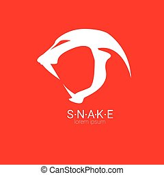 vector snake simple logo design element danger snake icon...