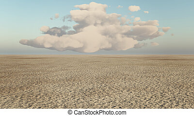 desert and cloud - desert concept of 3D natural scene...
