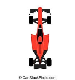 Racing car, Vector illustration