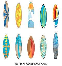 Surfboards, vector illustration