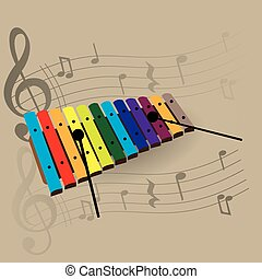 Musical instrument - Percussion instrument, Isolated...