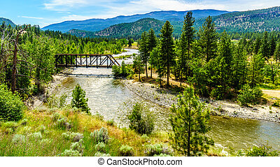 Truss Bridge over the Nicola River along Highway 8 between...