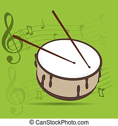 Musical instrument - Percussion instrument, Isolated drum,...