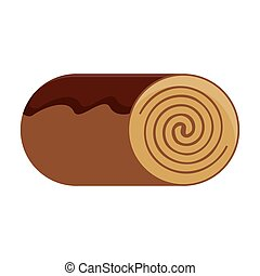 cinamon roll bakey icon design - canela roll bakey product...