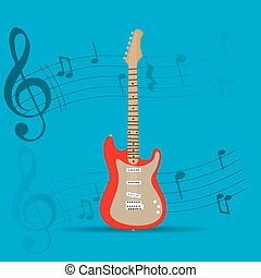 Musical instrument - String instrument, Isolated guitar,...