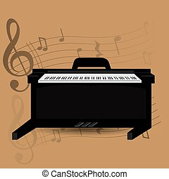 Musical instrument - Percussion instrument, isolated piano,...