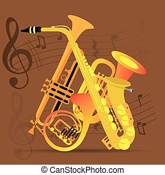 Musical instrument - Set of wind instruments, Musical...